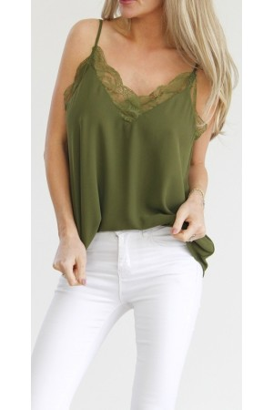 Joy Lace Top - Khaki