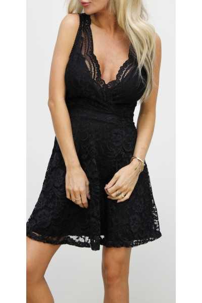 Malina Lace Dress - Black