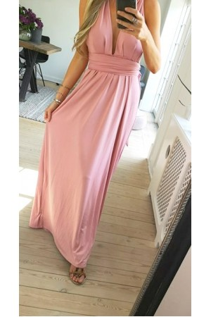 Sassi Long Dress - Rose