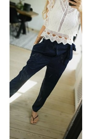 Kamy Satin Pants - Marine
