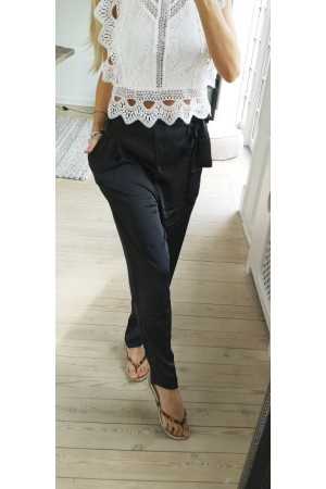 Kamy Satin Pants - Black