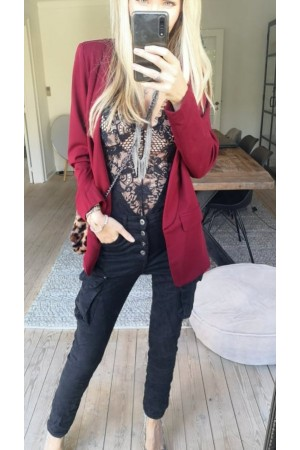 Chase Blazer - Dark Bordeaux