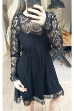 LIBERTE - Alma Lace Dress2 - Black/Black