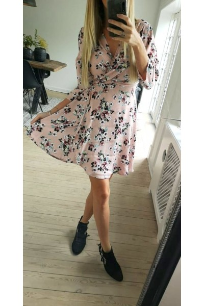 Tessa Flower Dress - Rose