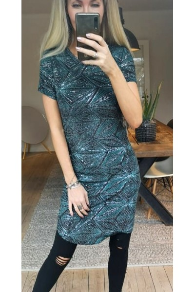 Tilda Shine Dress - Green