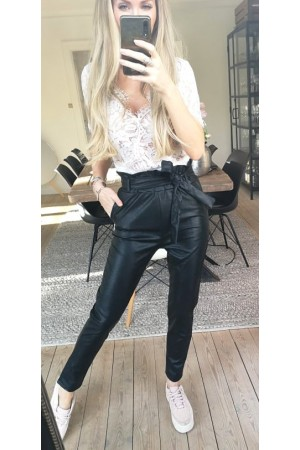 Miri Leather Pants - Black