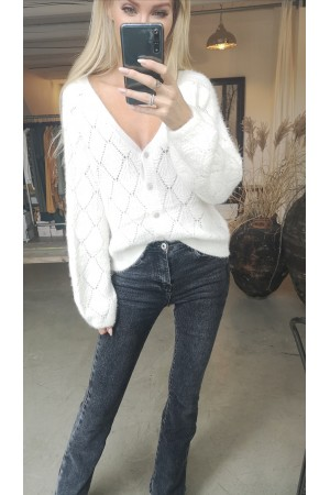 Signe Beauty Cardigan - White