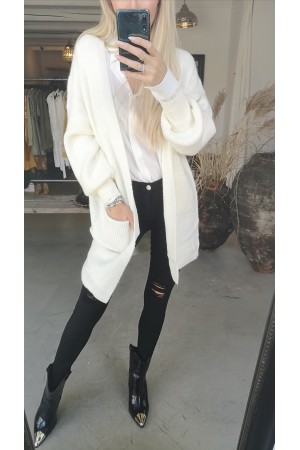 Sindi Big Cardigan - White