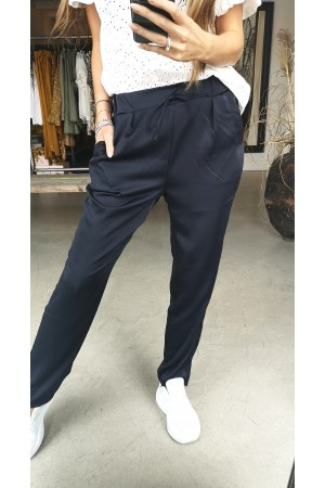 Ebba Shine Pants - Marine