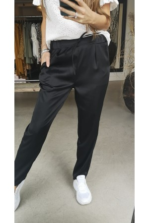 Ebba Shine Pants - Black