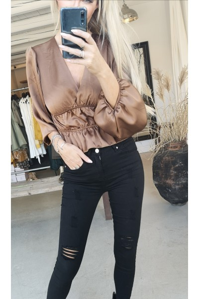 Jessi Beauty Top - Brown