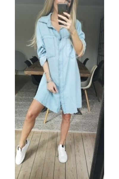 Moca Denim Dress - Light Denim