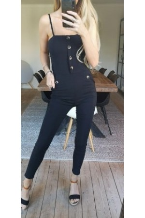 Flora Soft Jumsuit - Black