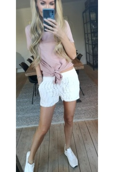 OBJECT - Objstephanie Maxwell S/S Top - Rose